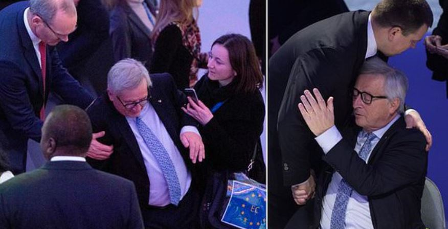 #AfricaEurope2018: Juncker collapsed