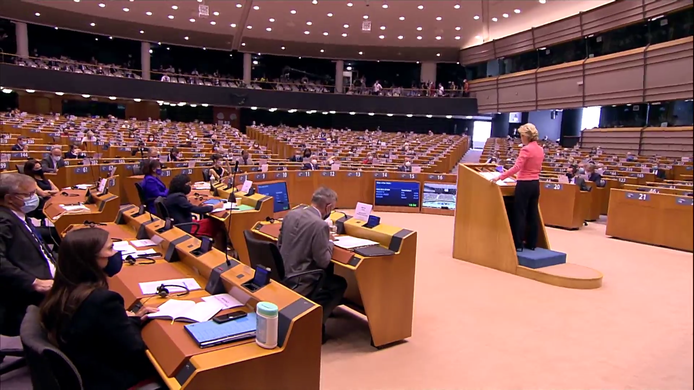 #SOTEU: Leyen formal debut